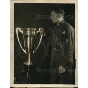 1927 Press Photo NYC Perpetual Challenge Cup Boy Scout Samson L Toplitz