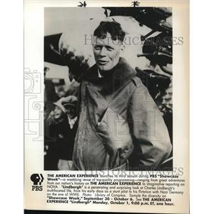 Press Photo Charles A. Lindbergh American aviator on Showcase Week PBS