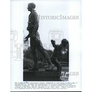 1987 Press Photo Charles Lindbergh: The boy and The Man