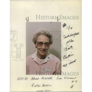 1993 Press Photo Ruth Battin, Portland, Oregon Champion cook - ora15326