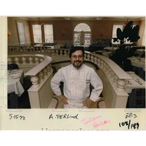 1992 Press Photo Chef Guillano Hazan of Perlina's - ora33138