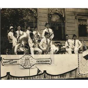 1925 Vintage Photo Maccabees Caravan Entertainers performing parade