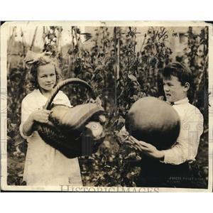1920 Press Photo John Williams & Merle Williams US School Garden Army