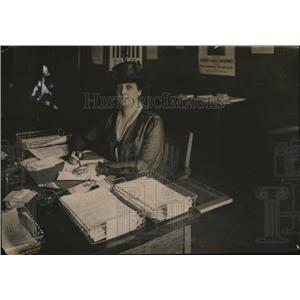 1917 Press Photo Mrs Coffin Van Renssellaer chair Natl League of Womens Services