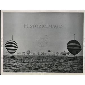 1961 Press Photo of a general view of the World Championship International Yacht