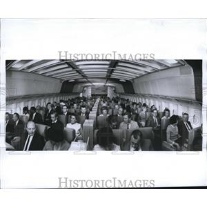 1968 Press Photo Main coach section of Lockheed 1011 jetliner - nee05472
