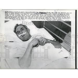 1957 Press Photo Crox Falls William Fruehling died, but he got better