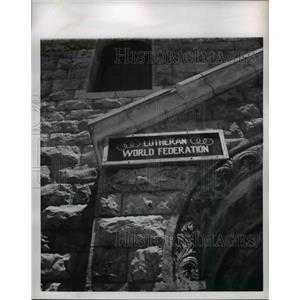 1953 Press Photo Lutheran World Fereration HQ at Jerusalem - nee07112
