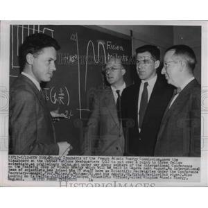 1955 Press Photo French Atomic Energy Commissioner Michael Trocheris - nee15754