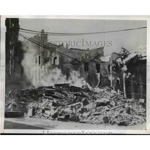 1943 Press Photo Milan Bombing Piazza San Carlo - nee21763