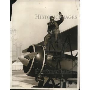 1930 Press Photo Albert Robbins, Boy Flier Flies to Washington - nee18517