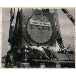 1956 Photo steam turbine generator made by GE Company exported to Japan