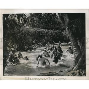 1939 Press Photo Movie scene in The Real Glory film in Philippines