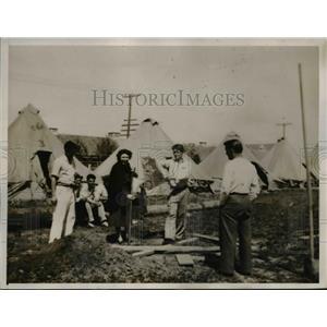 1936 Press Photo Miner's Refugee Camp in Sacramento,CA - nee25842