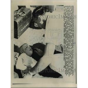 1959 Press Photo Michael Basko fails 2nd grade upset and gets hit by car