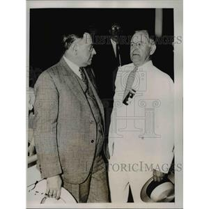 1936 Press Photo Lawrence Crowley, Marcus A Coolidge at Convention opening Mass.