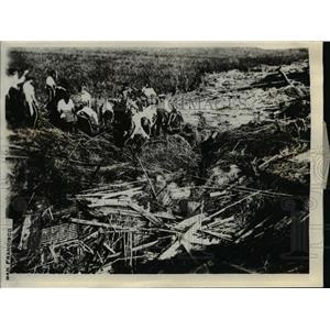 1927 Press Photo Japan Floods, Tidal Waves Western Kysushu - nee43543