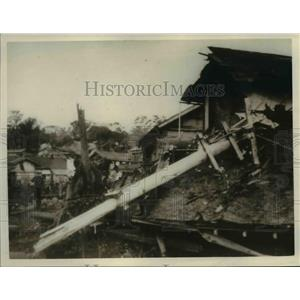 1925 Press Photo The town of Kitauraomachi Japan was wrecked by flood.