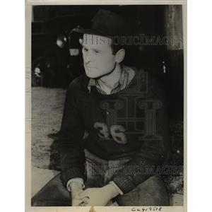 1937 Press Photo Robert H Ickes, day laborer with engineering firm in Youngstown