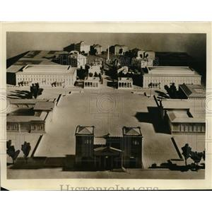 1934 Press Photo The Koenigs-Platz Civic Improvement Project for Munich Germany