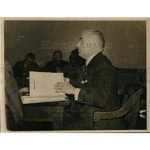 1938 Press Photo Roy P. Lonahan, New York Lawyer Tesifying About German Movements