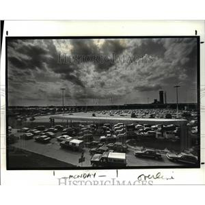 1987 Press Photo Cleveland Hopkins International Airport