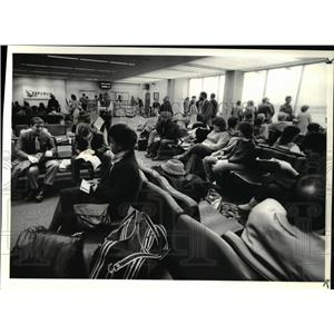 1984 Press Photo Cleveland Hopkins Airport