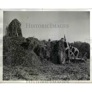 1941 Press Photo Gun of Battery D 13th Anti Tank Battalion in Cheraw SC
