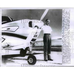 1958 Press Photo Capt. Marion Boling Aleutian Island - nee65467