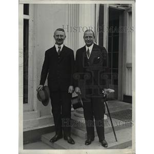 1930 Press Photo Hjalman Schacht and Counselor of the German Embassy Herro Kiep