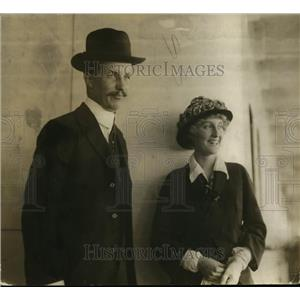 1918 Press Photo Kermit Roosevelt & his wife