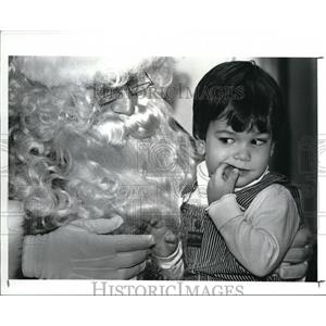 1987 Press Photo Lubrano as Santa Claus with Donals Bokor - cva41625