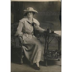 1918 Press Photo Graduation Frock in White Washable Corduroy & White Organdie