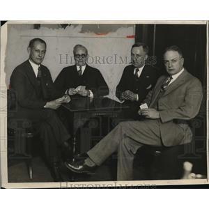 1928 Press Photo Four Bridge Players. - nee82729