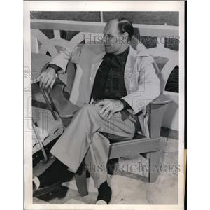 1946 Press Photo Leo Durocher manager of Brooklyn Dodgers on vacation in Florida