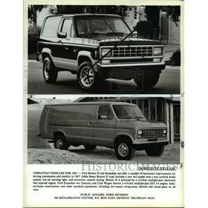 1986 Press Photo Ford Bronco II and Econoline van - cva79518
