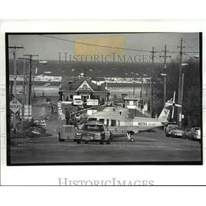 1988 Press Photo The chopper was pulled by an airlines tractor East 9th street