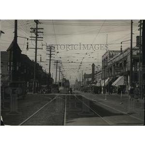 1922 Press Photo Looking west from 105th on Superior - cva95291