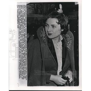 1955 Wire Photo Irmgard Schmidt, convicted by Germany for Spying for Russia