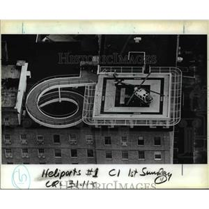 1983 Press Photo Life Flight helicopter operated by Emanuel Hospital.