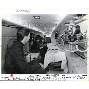 1991 Press Photo Life flight-Andy Stukey,Connie Barber,Kathy Hraster,Rich Morris