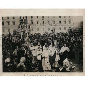 1931 Press Photo Rome Italy procession at Feast of Immaculate Conception