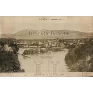 1919 Press Photo Geneva Switzerland view of Rhone river - nex98758