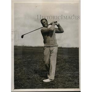 1929 Press Photo John Dawson in Amateur Golf Championship at Sandwich