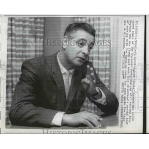 1961 Press Photo Andrew Fuzzy LeVane new coach of St Louis Hawks in NBA