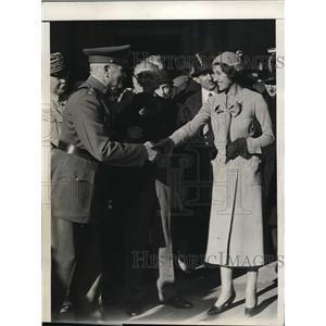 1931 Press Photo General John J Pershing & friend Josettte Laval in DC