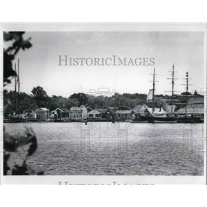 1987 Press Photo View of America's maritime Heritage at the Mystic Seaport