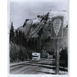1980 Press Photo Old West Trail Montana's Big Sky country - cva21855