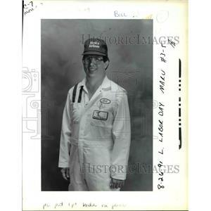 1991 Press Photo Bill Shields, lead mechanic Alaska Airlines - ora78248