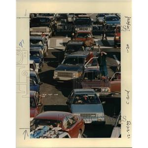 1993 Press Photo Cars at the Portland International Airport - orb36650